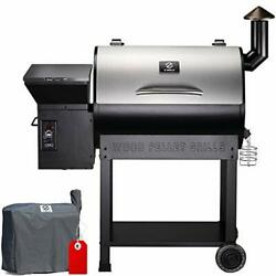 Zpg-7002e 2020 Upgrade Wood Pellet Grill And Smoker 8 In 1 Bbq Grill Silver