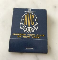 Vintage Collectible Matchbook Harbor View Club Of New York City Never Struck