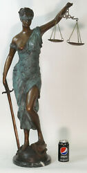 Lady Justice Blind Scale Of Justica Bronze Statue Figurine Old Bailey Artwork