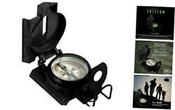 Official Us Military Tritium Lensatic Compass, Accurate Waterproof Hand Black