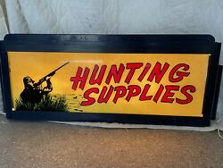 Vintage 1950andrsquos Illuminated Hunting Supplies Sign