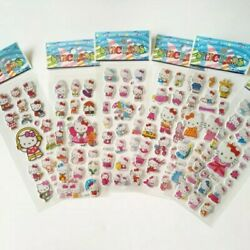 2 Sheets Puffy Hello Kitty Stickers