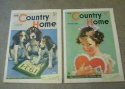 The Country Home Magazines January 1934 February 1934 Vintage Farm Magazines
