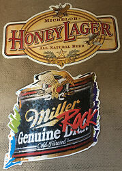 Miller Genuine Rock N Roll And Michelob Honey Lager Tin Signs
