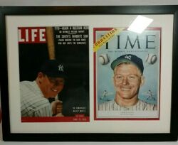 Mickey Mantle Framed Time And Life Mag Covers 1 X20 Fathers Day/ Grad/ Collector