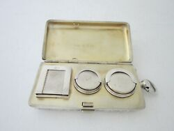 Antique Sterling Silver Sovereign/stamp Case - 1896 By Saunders And Shepherd