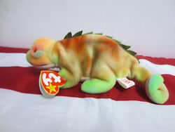BEANIE BABY IGGY THE IGUANA BABIES 1997 COLLECTION RARE COLLECTORS TY TOY CUTE