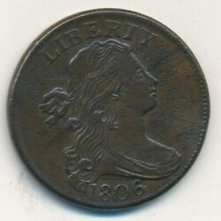 1806 Draped Bust Large Cent-beautiful Lightly Circulated Cent-ships Free Invds