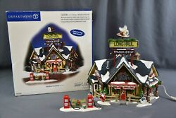 Dept 56 Snow Village Long Haul Truck Stop, Complete, 56-55368, Preowned
