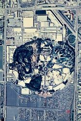 Hard To Find Large Arial View Of Disneyland Sign Poster Wall Map