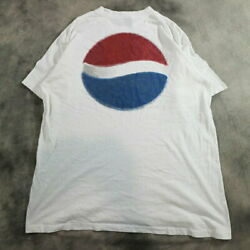 Used 90s Made In Usa Pepsi Printed T-shirt Vintage Thrift L Xl J7025