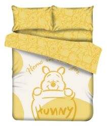 Disney Winnie The Pooh Fitted Sheet Pillow Case Duvet Cover Bedding Yellow Honey