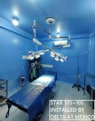Led Surgical Light Double Dome Star-105+105 Ceiling/wall Mount Operating Lights