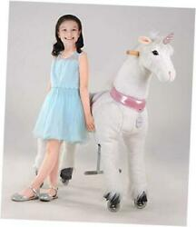 Ride On Unicorn Toy For Kids 6 Years To Adultsheight 44 Inch Large White