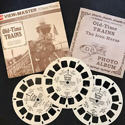 Viewmaster Old-time Trains Gaf - Black And White Stereoscopes - Rare