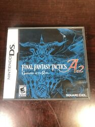 Final Fantasy Tactics A2 Grimoire Of The Rift Nintendo Ds Case And Manual Only