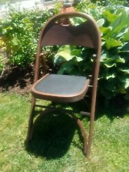 Vintage Antique Wood Bentwood Folding Chair Concert Church Nice