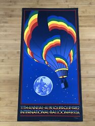 Vtg 1982 Albuquerque Rainbow Balloon Fiesta Poster By St Germain Signed Numbered