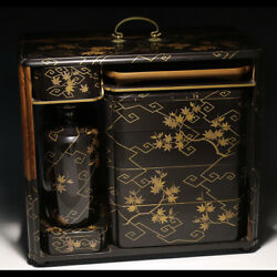 Antique Japanese Lacquer Maki-e Picnic Lunch Box Jubako Redesigned By A Joiner