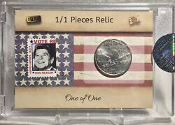 2020 The Bar Pieces Of The Past Ronald Reagan / Quarter Relic / Stamp 1/1