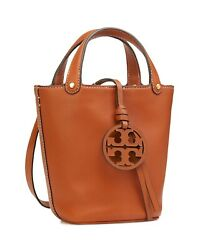 Tory Burch Miller Mini Bucket Bag in Aged Camel Leather NWT $299.99