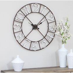 Farmhouse Wall Clock Oversized Country Large Rustic Shabby Dining Kitchen 30