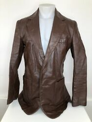 Awesome Clipper Mist / London Fog Mens 42 Xlong Leather Jacket - Excellent