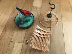 Needs Repair Cage Parts Dislocated, Battery-operated Singing Toy Bird, Plastic