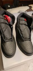 Jordan 1 Retro High Og Black Size 13, Comes In Container Store Case