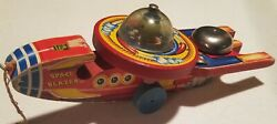 Vintage 1950's Fisher Price Toys 750 Space Blazer Pull Toy - Very Nice