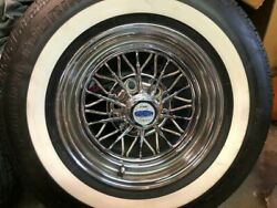 4 P235 75r 15 Inch White Wall Tires 1 1/2 Ww Band Thick Fat Wide Gangster New