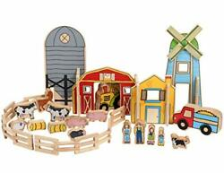 The Freckled Frog -ff432 Happy Architect - Farm - Set Of 26 - Ages 2+ - Woode...
