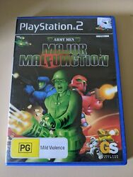 Army Men Major Malfunction - Ps2 Game - Complete With Manual - Very Rare