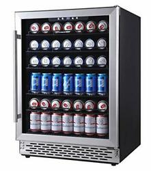 Phiestina 24 Inch Beverage Cooler Refrigerator - 175 Can Built-in Or Free Standi