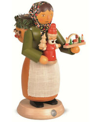 German Incense Smoker Mulled Wooden-toy Seller, Female, Height 24.. Mu 16661 New