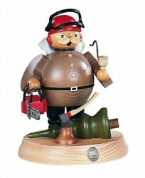 German Incense Smoker Forest Worker With Power Saw On Support, He.. Mu 16184 New