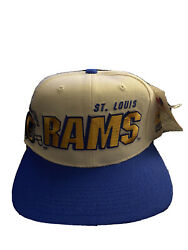 Vintage 90's St. Louis Rams Sports Specialties Hat Snapback Fit Stitched New