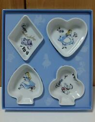 Disney Alice In Wonderland X Afternoon Tea Playing Card Small Plate Set Japan Nm