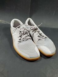 Vivobarefoot Primus Road Running Shoes Grey 300064-14 Lace Up Mens 46 M Us 12