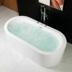 Woodbridge 67 X 32 Whirlpool Water Jetted And Air Bubble Freestanding Bathtub