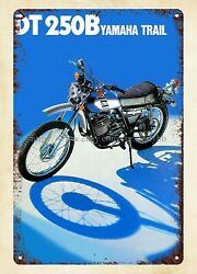 1975 Yamaha Motorcycle Dt250b Metal Tin Sign Home Decor Accessories Online