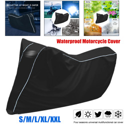 All Season Motorcycle Scooter Waterproof Cover Sunscreen Windproof S/m/l/xl/xxl