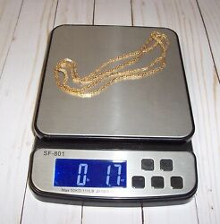 1.7 Ounce Oz. Square Hammered Gold Chain 14kt Gold Necklace 36 Long 50 Grams Gr