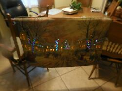 Tapestry 2 Sided Thomas Kinkade; 1ST SIDE: VICTORIAN CHRISTMAS; 2Nnd Side: HOMET