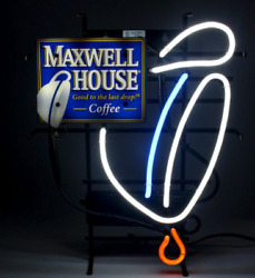 New Maxwell House Coffee Neon Sign - Rare, Man Cave, Collectible, Vintage