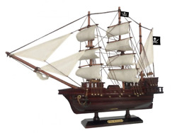 Wooden Calico Jack's The William White Sails Pirate Ship Model 20