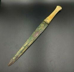 Antique Bronze Weapon Ancient Luristan 6th C. Bc Old Dagger Knife Sword