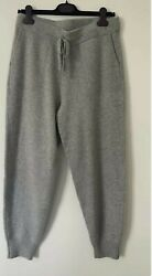 Rrp Andpound275 J.crew 100 Luxurious Cashmere Grey Joggers/trousers S M And L - New