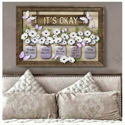 Butterfly And White Daisy Canvas Poster Itand039s Okay To Make Mistakes Canvas Vases