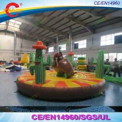 16ft Inflatable Rodeo Manual Human Riding Bull Giant Sport Game With Air Blower